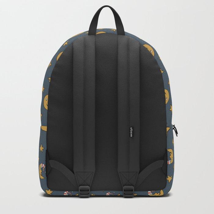 Doodle Moon Pattern Backpack
