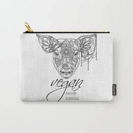 Every life is precious - pig Carry-All Pouch