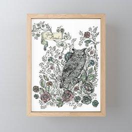 Spirit Animal: Owl. Framed Mini Art Print