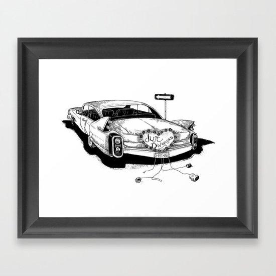 Just Divorced! Framed Art Print