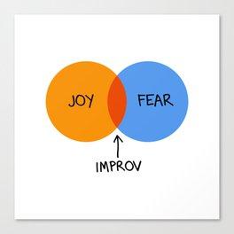 The Venn of Improv (Orange/Blue) Canvas Print