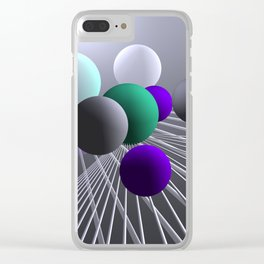 converging lines and balls -1- Clear iPhone Case