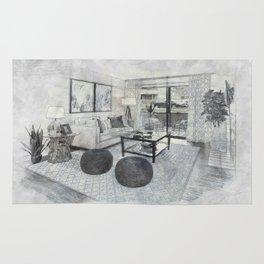 Living Room Interior Furniture Rug
