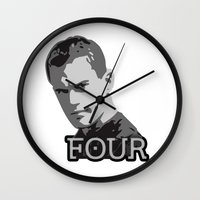 divergent Wall Clocks featuring Divergent: Four by Flash Goat Industries