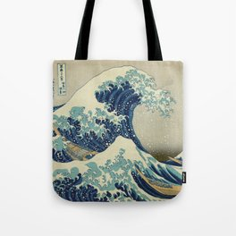 Great Wave Off Kanagawa (Kanagawa oki nami-ura or 神奈川沖浪裏) Tote Bag