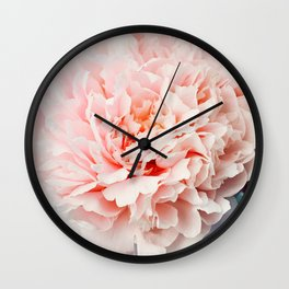 Peony Flower Photography, Pink Peony Floral Art Print Nursery Decor A Happy Life  - Peonies 1 Wall Clock