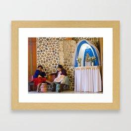 Bolivian women Framed Art Print