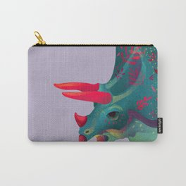 Dinosaur with plant tattoo Carry-All Pouch