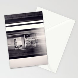 metro long exposure Stationery Cards