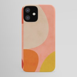 geometry shape mid century organic blush curry teal iPhone Case