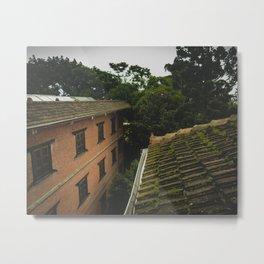 Kathmandu City Roof Tops - Architecture 01 Metal Print