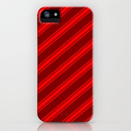 Maroon and Red Colored Stripes/Lines Pattern iPhone Case