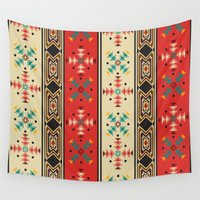navajo Wall Tapestries featuring Navajo style pattern by Rceeh
