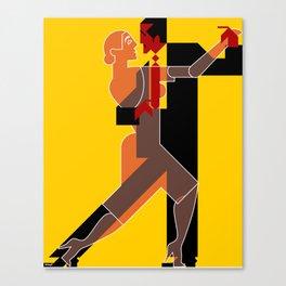 Tango dancing Canvas Print