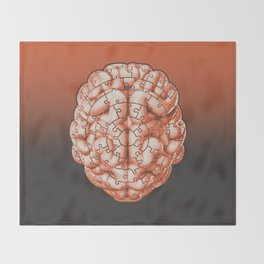 Puzzle brain GINGER / Your brain on puzzles Throw Blanket