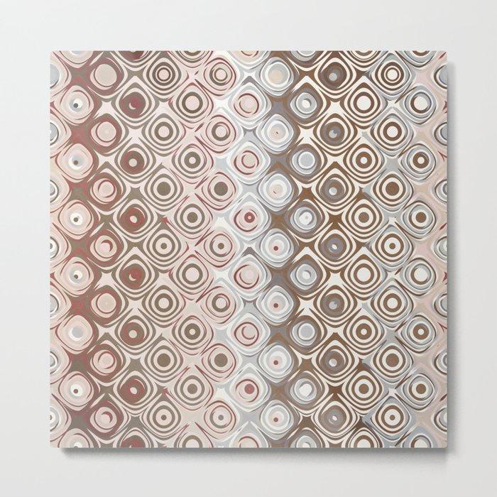 Brown And Beige Pattern Metal Print