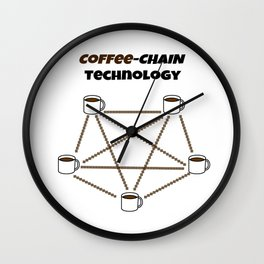 Coffee-chain Technology Wall Clock
