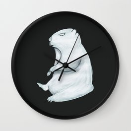The White Ghost of a Third Marmot Alive Wall Clock