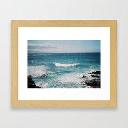 Maui Surf Framed Art Print