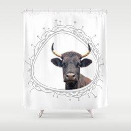 Yellow Horns Shower Curtain