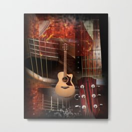 The Acoustic Guitar  Metal Print