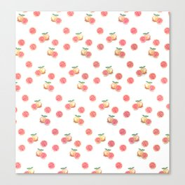 Grapefruit Pattern Canvas Print