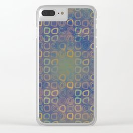 Vintage squares Clear iPhone Case