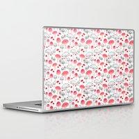 mushroom Laptop & iPad Skins featuring mushroom by viktoria.rodek