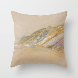 Samuel Palmer - Mountains By The Traveller's Rest Near Dolgelly - Digital Remastered Edition Throw Pillow