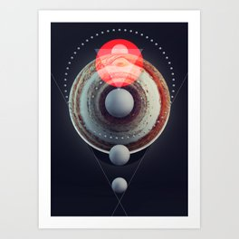 Jupiter BETA ( Pre-release version ) Art Print