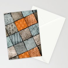 Vintage Material Quilt Stationery Cards
