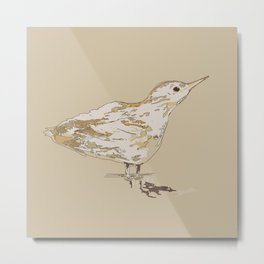Bird Fledgling - Unique design, minimal and encapturing the vulnerability of this little bird. Metal Print