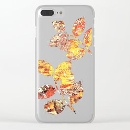 Golden Autumn Abstract Clear iPhone Case