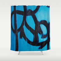 subway Shower Curtains featuring Subway by Lotus Effects
