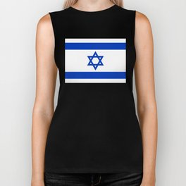 Israel Flag - High Quality image Biker Tank