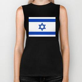 Israel Flag - High Quality image Biker Tank