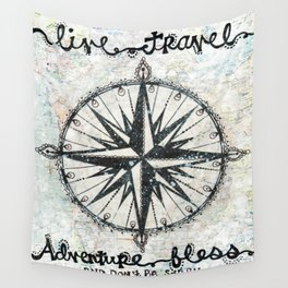 Live Travel Adventure Bless Wall Tapestry
