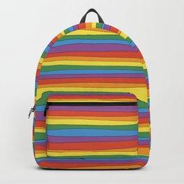 Horizontal Rainbow Stripes Backpack