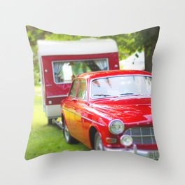 Let's go camping Throw Pillow