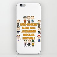 dwight schrute iPhone & iPod Skins featuring Dwight Schrute Two Words by Alex Dutton