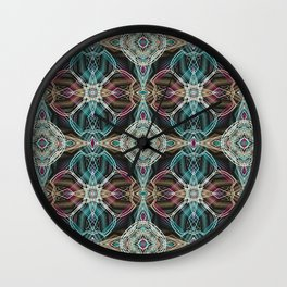 Art Deco 43 .Multicolored abstract pattern . Wall Clock