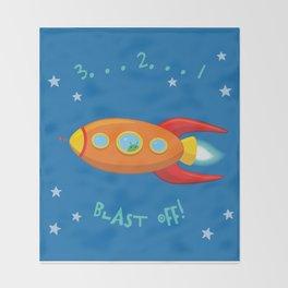 3, 2, 1, Blast Off!  Throw Blanket