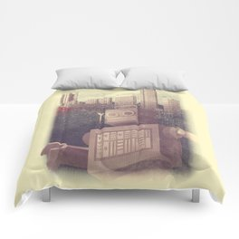 A City Snow-Bot Comforters