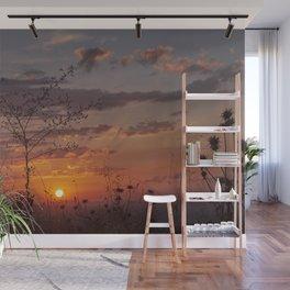 Last days of Summer. Sunset near autumn.... Wall Mural