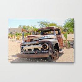 Old car, Namib Desert Metal Print