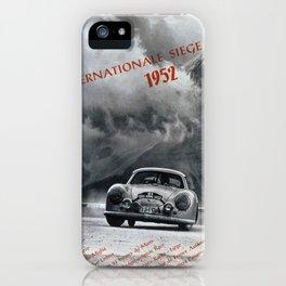 Vintage 1952 Racing Poster iPhone Case