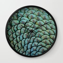Beautiful Elegant Peacock Feathers Wall Clock