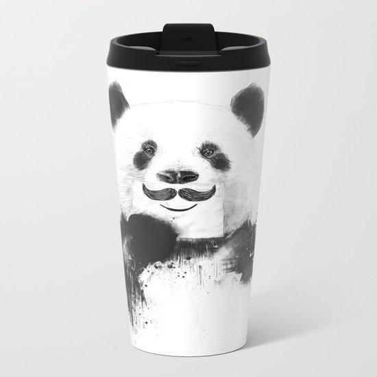 Funny panda Metal Travel Mug