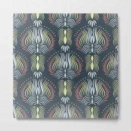 Curvy Grass Metal Print