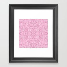 Ab Lace Pink Framed Art Print